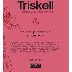 Shampoo COLOR PRESERVE senza Sale Triskell 300ml